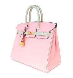 HSS Hermes Rose Sakura Gris Perle 25cm Chevre Birkin Special Order  Horseshoe VIP 2 c753120074a87