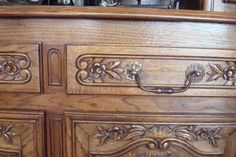 pretty French carving on an antique