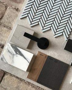 Mood Board Interior, Interior Design Boards, Home Design Decor, House Design, Material Board, Colour Schemes, House Colors, Home Remodeling, Decoration