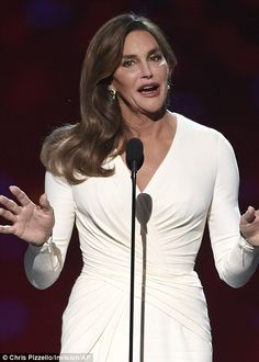 Among peers: Caitlyn made her major public debut among athletes at the ESPY Awards...
