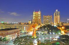 Partial San Antonio Skyline & The Friendship Torch* by