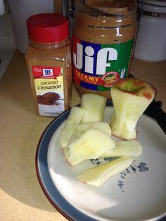 My favorite Atkins snack #peanut-butter #cinnamon #apples