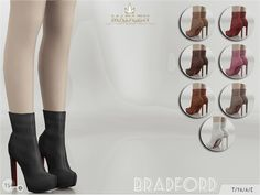 New boots for your sim! Simple yet classy! Come in 8 colours (suede texture).  Found in TSR Category 'Sims 4 Shoes Female'
