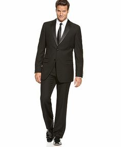 $144.99 for my man! Izod Suit, Black Tuxedo - Mens Suits & Suit Separates - Macy's