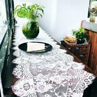 Wedding Table Runner White Eyelash Lace Tablecloth Floral Table Cloth Boho Wedding Table Decoration Home Textile Lace Tablecloth Wedding, Wedding Table Linens, Wedding Chairs, Lace Wedding, Wedding Blog, Cheap Table Runners, Burlap Table Runners, Home Textile, White Lace