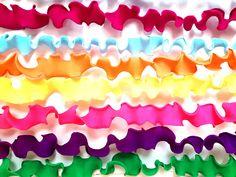 Origami Dress Garland orange blue pink green stripe polka dot skirt clothes twine party supplies decor banner