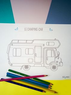 coloriage camping-car