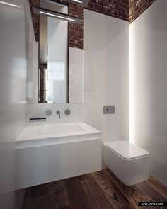 Panel And Lighting Scheme For Small Second Bathroom At The Emerald  Penthouse Concept By Sergey Makhno Workshop.