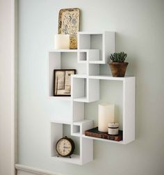 Cube Wall Shelf Intersecting Boxes Shelves Decor Floating Storage Display Accent #Generic #Modern