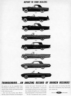 1962 Ford Thunderbird ad