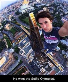 I'm not one to be afraid of heights, but that is some intense distance between him and the ground.... :/
