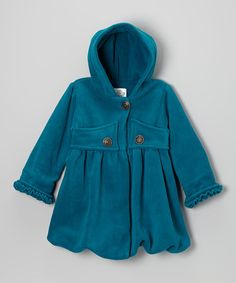 Take a look at this Glacier Green Mary-Jayne Bubble Coat - Infant, Toddler & Girls by Corky & Company on #zulily today!