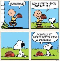'Suppertime', with Charlie Brown and Snoopy❤️