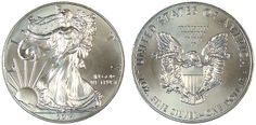 2014 Silver Eagle Gem Uncirculated - MintProducts.com Silver Eagle Coins, Silver Eagles, 13 Colonies, Eagle Design, Uncirculated Coins, Half Dollar, Silver Dollar, Design Show, San Francisco