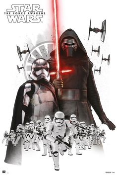 Kylo Ren and Captain Phasma   side by side with their first order storm trooper army!!!
