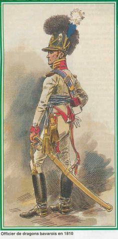 Bavaria; Dragoons, Officer 1810 by Maurice Henri Orange