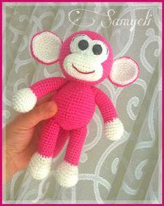 Amigurumi Crochet Manki The Monkey Free Pattern Crochet Monkey Pattern, Giraffe Pattern, Crochet Patterns Amigurumi, Baby Knitting Patterns, Crochet Amigurumi, Crochet Teddy, Amigurumi Doll, Stuffed Toys Patterns, Crochet Projects