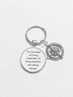 Best Friend Gift Compass True Friendship Long by HeavenlyCharmed