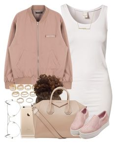 """Nudes. "" by livelifefreelyy ❤ liked on Polyvore featuring VILA, Forever 21, Givenchy, ZoÃ« Chicco and Ray-Ban"