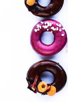 Donuts de remolacha y chocolate                                                                                                                                                                                 Más