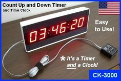 Our Model LED Large Display Digital Timer - Countdown Clock - Count Up Clock is Easy to Use! The Best Value in Digital Timers. Countdown Clock, Digital Timer, Time Clock, Digital Alarm Clock, Wall Mount, Display, Led, Electronics, Easy
