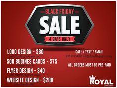Royal Design Group BLACK FRIDAY STARTS TODAY!!!