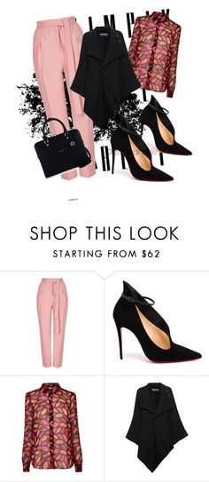 """""""Untitled #73"""" by mama-liciuos ❤ liked on Polyvore featuring Topshop, Christian Louboutin, Diane Von Furstenberg, Roland Mouret and Henri Bendel"""