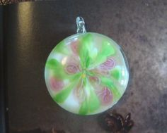 Murano Glass Floral Pendant by CorrettiDesigns on Etsy, $6.00