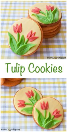Gorgeous TULIP COOKIES with tutorial. These would be great as party favors! From cakewhiz.com