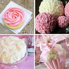 Love the flower cake and cupcakes