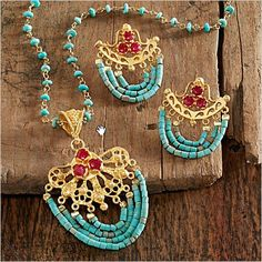 Ottoman Turquoise and Ruby Jewelry | National Geographic Store