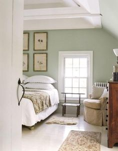 Super pretty for bedroom after we get the hardwood floors. Would loooove it with the dressers even!