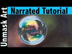 Bubbles Painting- how to paint bubbles tutorial - YouTube