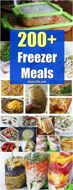 200 Easy To Make Freezer Meals That Save You Time And Money - Easy Make Ahead Crockpot Recipes Your Family Will Love! Curated by DIYnCrafts Team via Vanessa easy meals Freezable Meals, Slow Cooker Freezer Meals, Make Ahead Freezer Meals, Dump Meals, Freezer Cooking, Easy Meals, Cheap Meals, Meals To Freeze, Freezer Meal Party