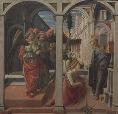 Filippo Lippi, Annunciation, 1440, before restoration.