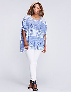 5711d61fce7 Tie-dye adds to this asymmetric top s cool vibe--which is exactly what. Plus  Size Resort WearPlus ...