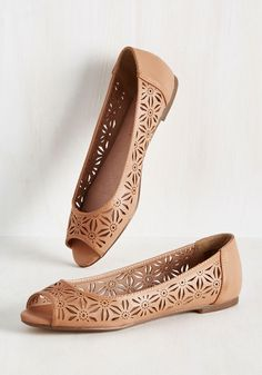 20b892f7efa You Walk My World Flat. These peep toe flats are lucky to call your closet