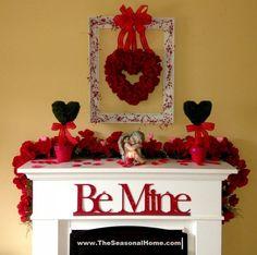 valentine mantel ideas | Decorating Ideas. Fireplace Decoration Ideas for Valentine's Day ...
