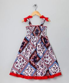 Red Patchwork Dress - Girls  So Beautiful!!!