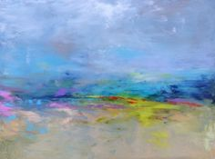 """Abstract Landscape 'Intention' - acrylic painting on canvas - size 40cm x 30cm (16"""" x 12"""")"""