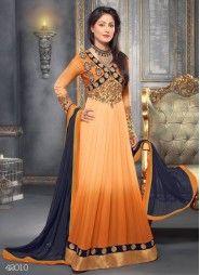 Sensational Heena Khan Floor Touch Georgette Anarkali Suits Available on http://www.fashionfiza.com/salwar-kameez/catalog