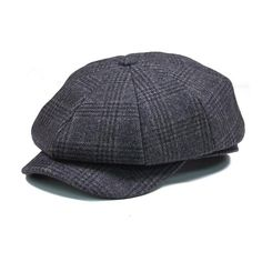Mens Octagonal Newsboy Cap Beret Hat. Vintage Men Wool ... 55547390162c