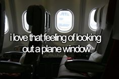Flying in an airplane ❤