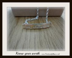 Know your worth 👊 💋 ✌ Hey, I found this really awesome Etsy listing at https://www.etsy.com/uk/listing/464173941/know-your-worth-necklace