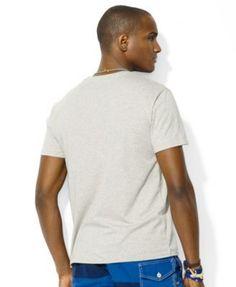 Polo Ralph Lauren Custom-Fit Cotton Jersey Crewneck - New Heather Grey M