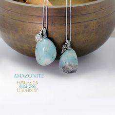 Amazonite pendant necklace, Handmade natural tumbled stone, Light blue Stone Necklace, Stone Jewelry, Beaded Necklace, Pendant Necklace, Tumbled Stones, Natural Shapes, Stone Pendants, Necklace Lengths, Light Blue