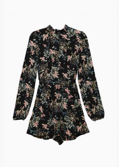 Black Floral Romper- if this were a short dress, it'd look great with dark jeans.
