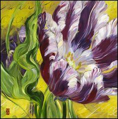 Canadian artist Bobbie Burgers Floral art work