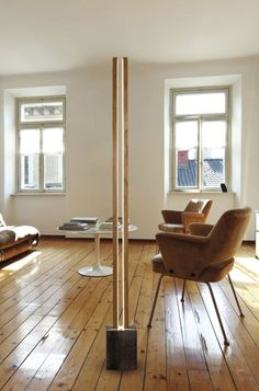 Floor-standing lamp / contemporary / metal / LED LUBOIS  CINIER