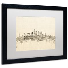 Philadelphia Sheet Music II by Michael Tompsett Framed Graphic Art in White
